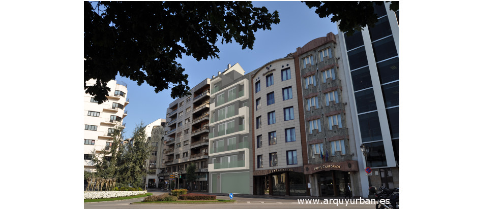 Edificio de 13 Viviendas, Local y Trasteros en la Calle Argüelles 19, Oviedo