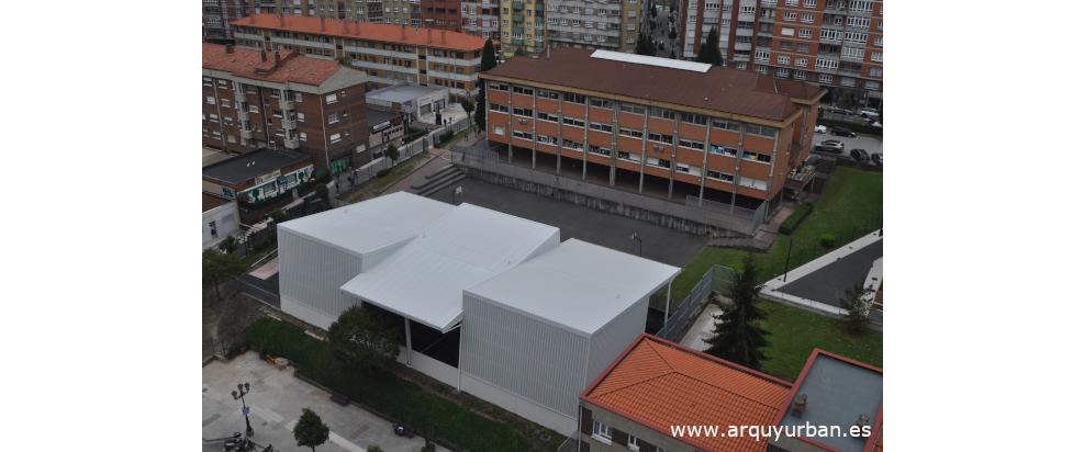 Pista Polideportiva Cubierta en el Colegio Público Buenavista I, Oviedo