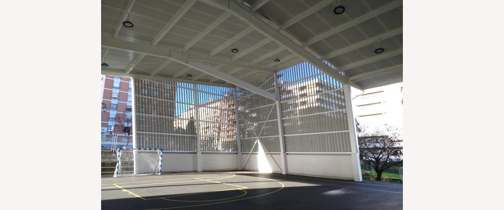 Pista Polideportiva Cubierta en el Colegio Público Buenavista II, Oviedo